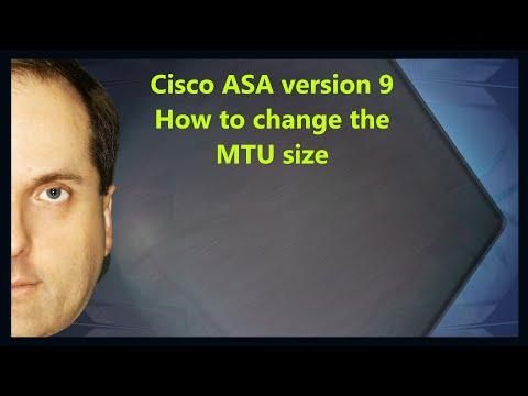 Cisco ASA version 9 How to change the MTU size