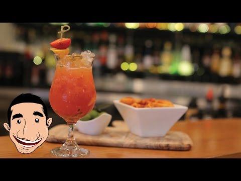 Calypso Cocktail Recipe   Italian Brazilian Fruit Cocktail   Passion Fruit Orange and Strawberry