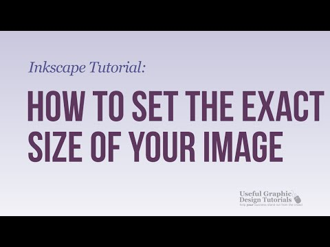 How to set the exact size of your image in Inkscape - Inkscape Tutorial