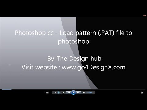 Photoshop tutorial-Load pattern to photoshop