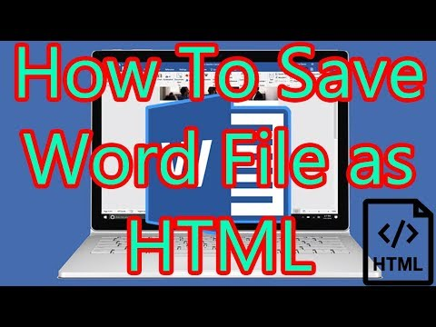 How to Save Word 2016 file as HTML
