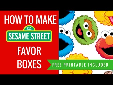 How to make DIY Sesame Street Party Favor Decorations ideas | FREE printables included