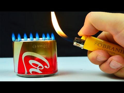 How to Make an Alcohol Burner out of the bottle with Coke
