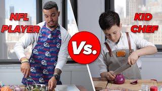 Kid Chef Vs. NFL Player: Cooking Challenge