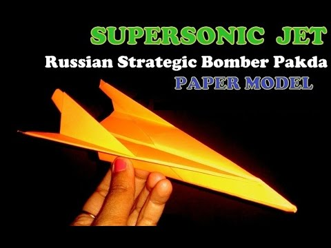 How to make paper plane model of Russian Stealth Bomber Pakda which fly long.