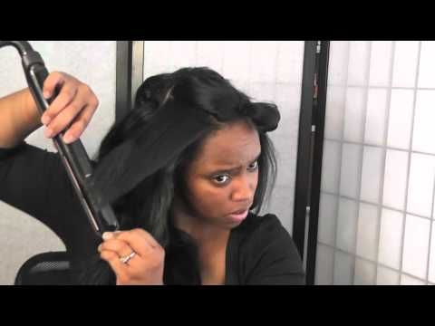 Hair Tutorial: wet & wavy extensions  to straight