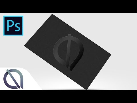 How to make Black embossed business card mockup (download link) - Tutorial - Photoshop