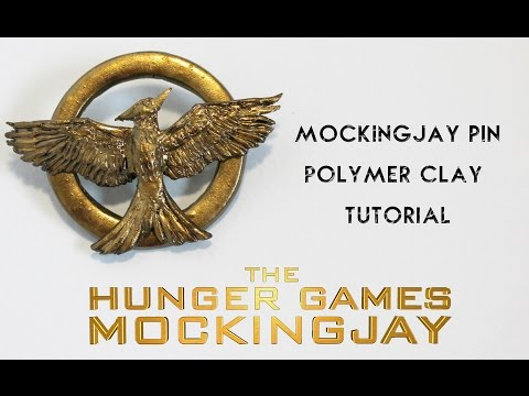 DIY Hunger Games Mockingjay Pin Polymer Clay Tutorial