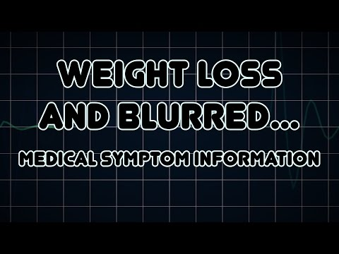 Weight loss and Blurred vision (Medical Symptom)