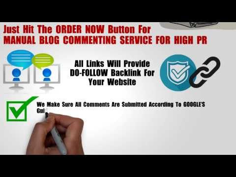 High PR Blog comments