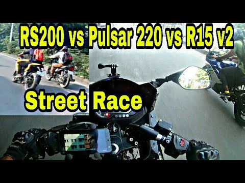 R15 V3 vs NS 200 | Street Race | First Street race with Red