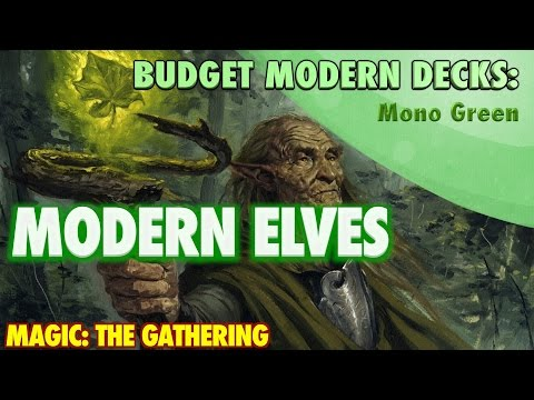 MTG - Modern Elves, A Budget Mono Green Deck Tech for Magic: The Gathering