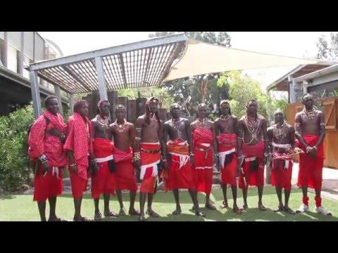Maasai warrior cricket team wish us Happy Birthday