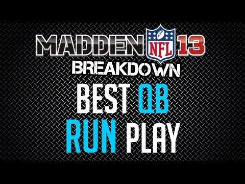 Madden 13 : Offense Tips : Best QB Run