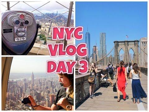 NEW YORK CITY VLOG / DAY 3 / HELICOPTER FLIGHT,BROOKLYN BRIDGE & EMPIRE STATE - (HD)