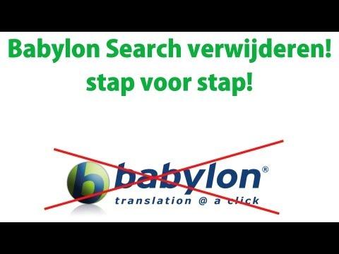 Babylon Search Toolbar verwijderen