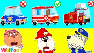 Wolfoo Pretend Play Professions with Lego Toy Cars - Funny Stories with Toys | Wolfoo Channel