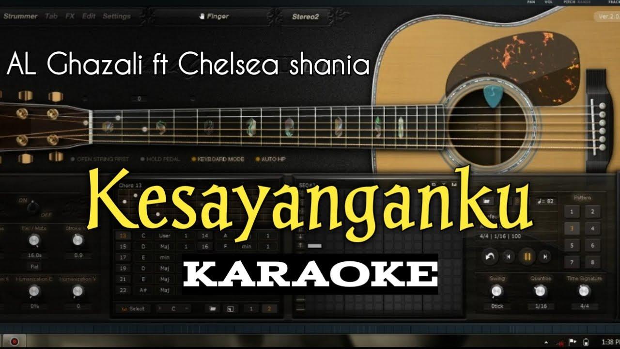 Download KESAYANGANKU KARAOKE (AL Ghazali ft Chelsea Shania) lagu terbaru full lyric MP3 Gratis