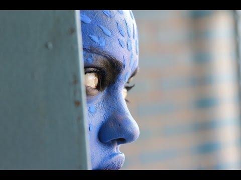 Halloween-Mystique (x-men)makeup tutorial-easy for beginners :)