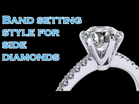 Band Setting Styles for Side Diamonds - Pave, Channel, Channel Pave, Shared Prongs, Bezel