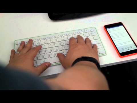 Using a Bluetooth keyboard with Windows Phone 8.1 Update 2