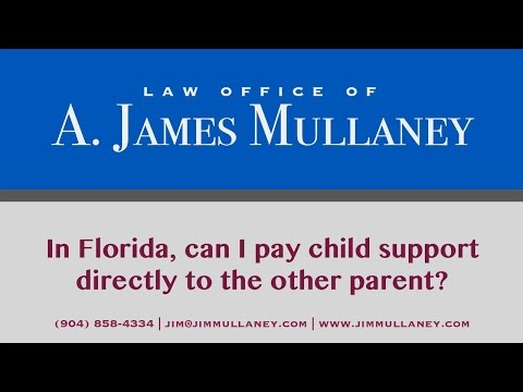 In Florida, can I pay child support directly to the other parent?