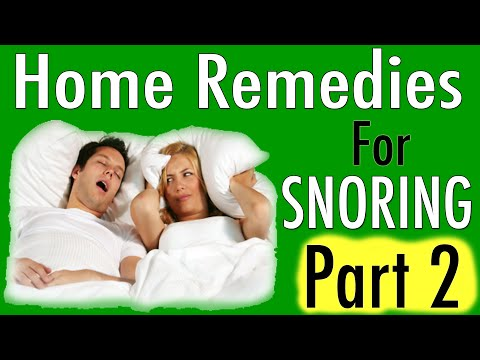 Home Remedies For Snoring - 3 Snoring Remedies To Try Part 2