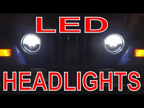 LED Headlights Install: Truck-Lite LED Front Lights on Jeep TJ Wrangler