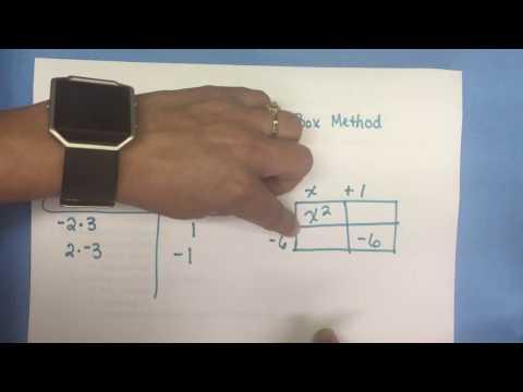 A.10E Factoring using the Box Method