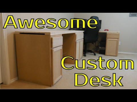 Awesome Custom DIY Desk