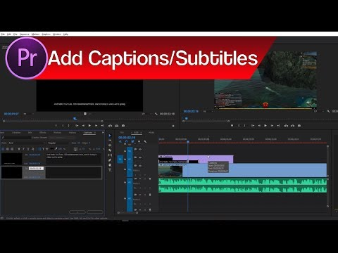 How to Add Captions and Subtitles in Premiere Pro | Closed Captions vs Open Captions