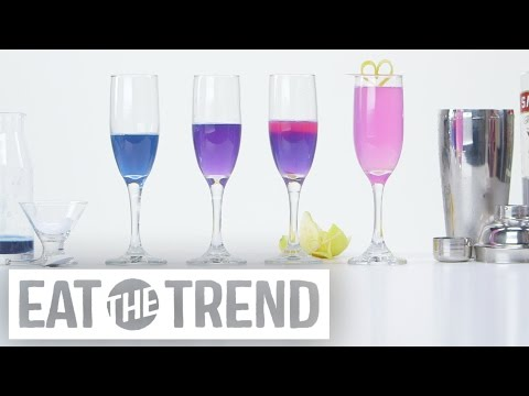 How to Transform a Cocktail From Blue to Pink Using Science | Eat the Trend