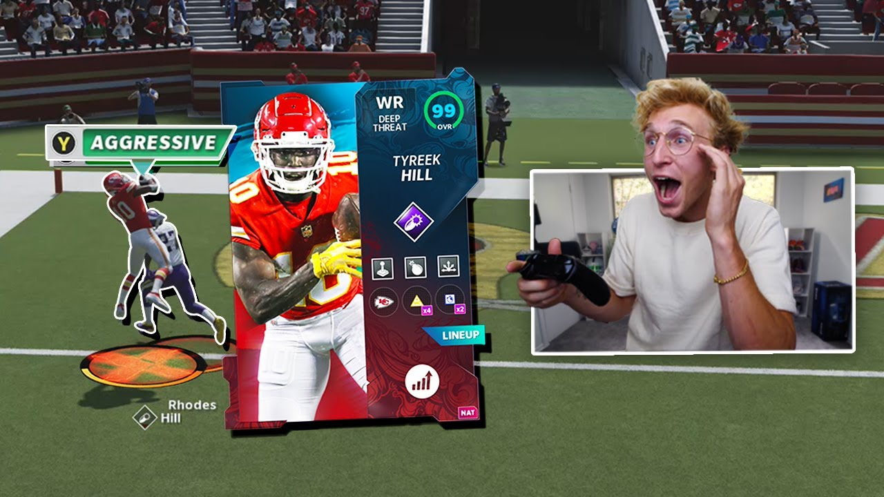 99 Speed Super Bowl Tyreek is TOO Fast...