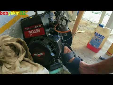 lawn mower engine with pocket bike carburetor