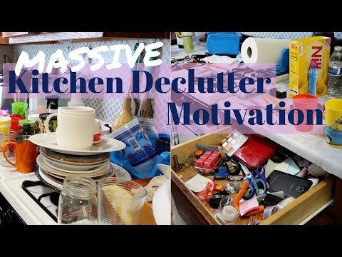 Massive Kitchen Decluttering Motivation / Clean with me