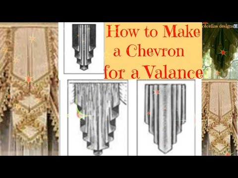 How to make a chevron for a valance