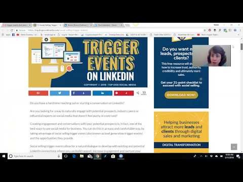 Trigger events can present opportunities in Linked In