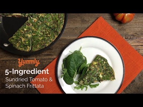 5-Ingredient Sundried Tomato & Spinach Frittata