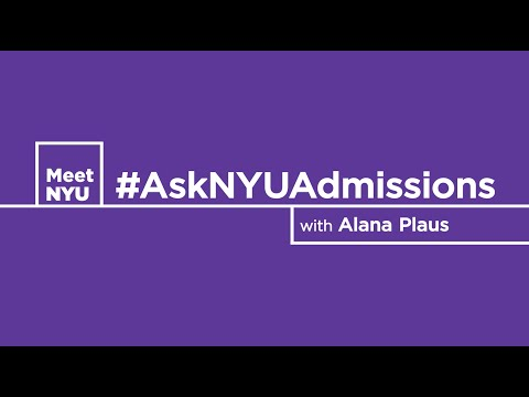 #AskNYUAdmissions -