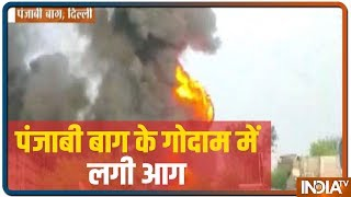 Fire Breaks Out At Godown In West Delhi's Punjabi Bagh