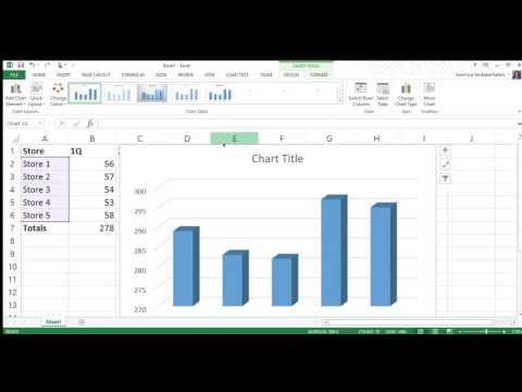 How to use Simple 3D Column Chart in Excel