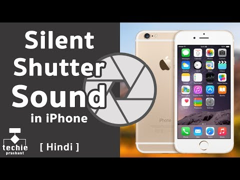 How To Silent Camera App Shutter Sound in iPhone. iOS10 HINDI