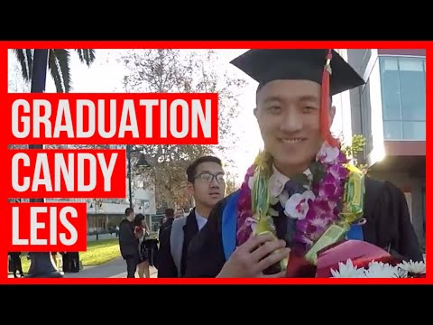 HOW TO MAKE CANDY LEI FOR GRADUATION