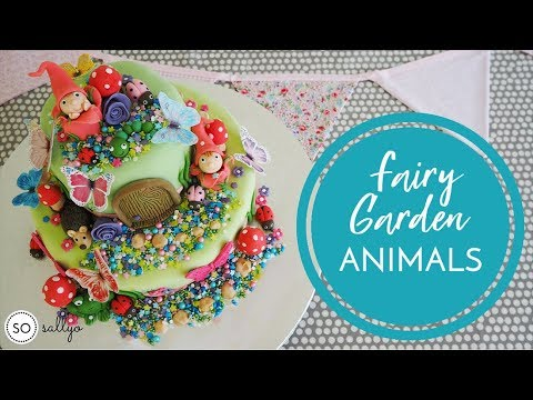FAIRY GARDEN CAKE DECORATING: How To Make Fondant Icing Ladybirds and Animals - Part 2