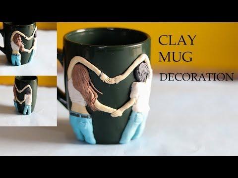 DIY VALENTINE'S DAY GIFT  CLAY MUG DECORATION