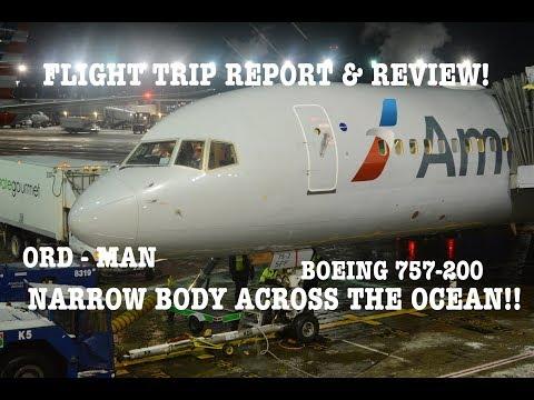 #56: NARROWBODY ACROSS THE OCEAN | American Airlines B757 | ORD - MAN AA54 | FLIGHT REPORT & REVIEW