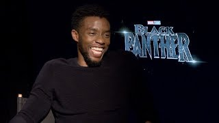 BLACK PANTHER Interviews: Chadwick Boseman, Michael B Jordan, Angela Bassett and MORE!