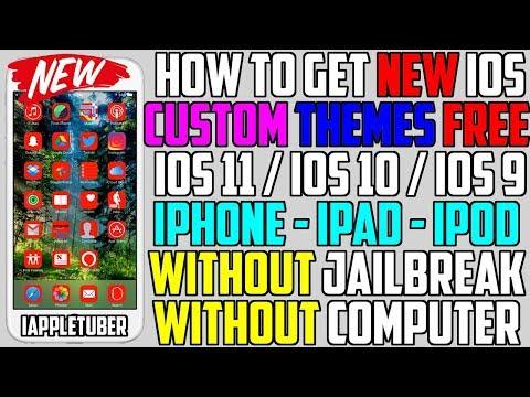 How To Install Custom Themes FREE iOS 11 & 10 - 10.3.3 (NO Jailbreak NO Computer) iPhone,iPad,iPod)