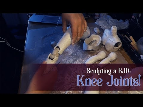 Sculpting a BJD: Knee Joints!