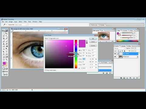 How to change eye colour on Adobe Photoshop 7.0